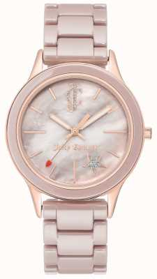Juicy Couture Orologio analogico da donna in acciaio placcato JC-1048TPRG