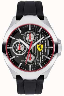 Scuderia Ferrari Quadrante nero cinturino in caucciù nero con cinturino in gomma 0830510