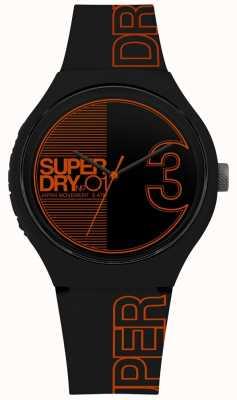 Superdry Urban xl fusion stampa nero arancio opaco SYG239BO
