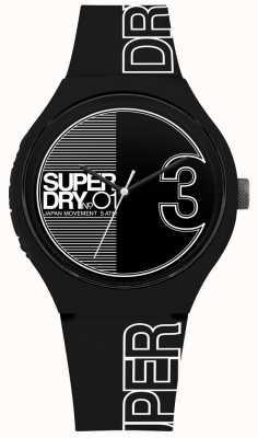 Superdry Urban xl fusion stampa bianco nero opaco SYG239BW
