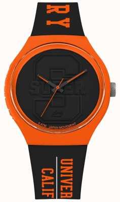 Superdry Tracolla urban xl nera opaca quadrante nero cinturino arancione SYG240BO