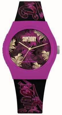 Superdry Tracolla Urban Tropicana viola e rosa con stampa quadrante viola SYL247BP