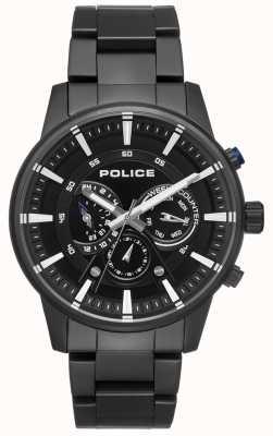 Police Quadrante nero da uomo con quadrante nero elegante PL.15523JSB/02M