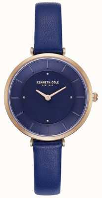 Kenneth Cole Orologio da donna con quadrante blu cinturino in pelle blu KC50306005