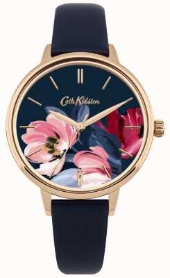 Cath Kidston Quadrante floreale con quadrante dell'orologio cinturino da donna CKL050URG