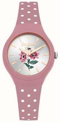 Cath Kidston Womens anemone bouquet cinturino in silicone rosa CKL066P