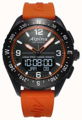 Alpina Cinturino in gomma arancione smartwatch Alpinerx AL-283LBO5AQ6