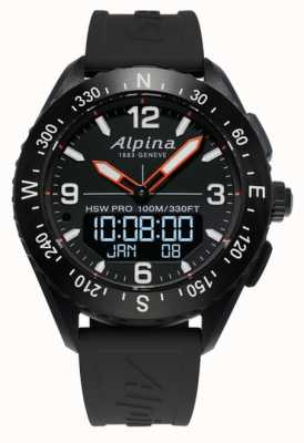 Alpina Cinturino in caucciù nero smartwatch Alpinerx AL-283LBB5AQ6