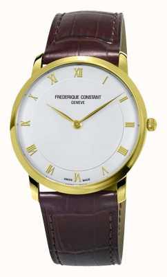 Frederique Constant Cassa placcata oro sottile al quarzo da uomo FC-200RS5S35