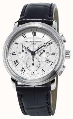 Frederique Constant Cinturino in pelle nera cronografo da uomo classico FC-292MC4P6