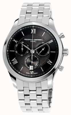 Frederique Constant Cronografo da uomo in acciaio inossidabile con cronografo classico FC-292MG5B6B