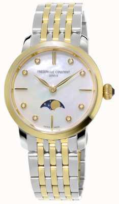 Frederique Constant Bracciale da donna bicolore in quarzo moonlight slimline FC-206MPWD1S3B
