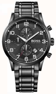Hugo Boss Orologio da uomo con cronografo nero aeroliner 1513180