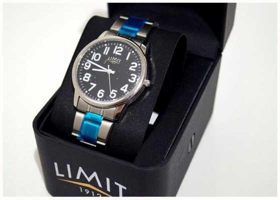 Limit | uomo | quadrante nero | bracciale in acciaio inossidabile 5648