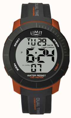 Limit Mens crono digitale dual time attivo grigio / arancio 5676.66