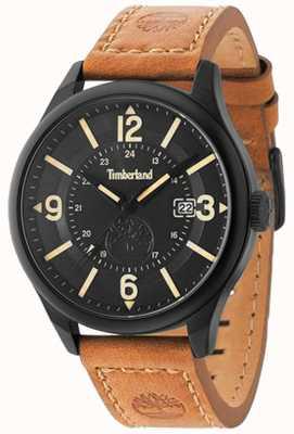 Timberland Quadrante e quadrante nero con cinturino in pelle marrone blake TBL.14645JSB/02