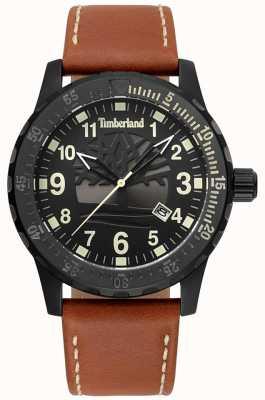 Timberland Quadrante e cinturino in pelle marrone chiaro Clarksburg TBL.15473JLB/02