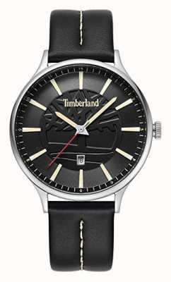 Timberland Quadrante nero con cinturino in pelle nera testa di moro 15488JS/02