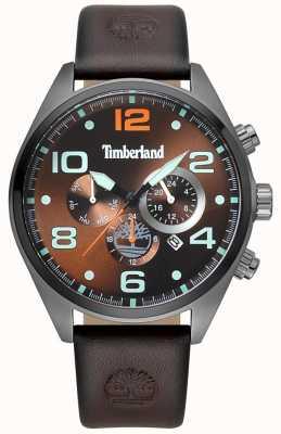 Timberland Quadrante marrone con cinturino in pelle marrone whitman uomo TBL.15477JSU/12