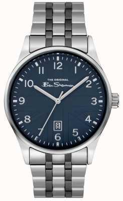Ben Sherman Orologio da uomo opaco | quadrante blu | bracciale in acciaio inossidabile BS017USM