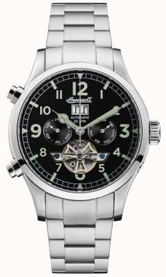 Ingersoll Mens acciaio automatico nero chrono armonico I02103