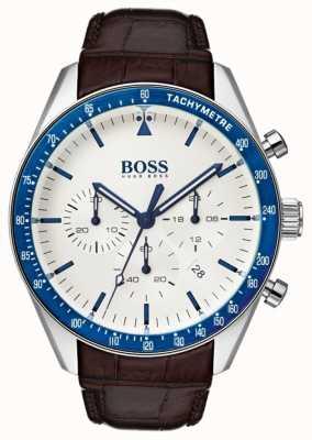 Hugo Boss Quadrante bianco trofeo mens 1513629