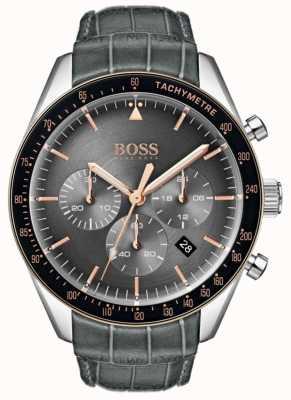 Boss Quadrante grigio trofeo da uomo 1513628