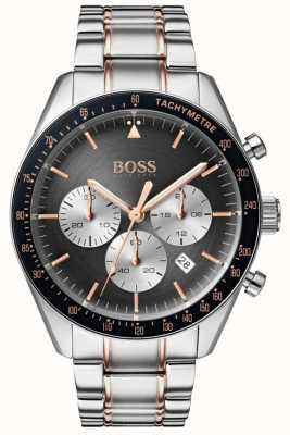Boss Orologio da uomo con quadrante grigio cronografo quadrante in acciaio inossidabile 1513634