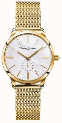 Thomas Sabo Quadrante bianco con cinturino in maglia tono oro glamour donna WA0302-264-213-33