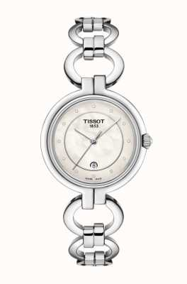 Tissot Quadrante in madreperla da donna in acciaio inossidabile con fenicotteri T0942101111600