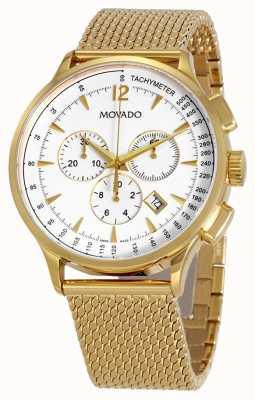 Movado Cinturino cronografo placcato oro da uomo circa 0607080