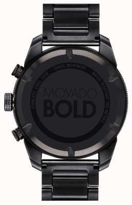 Movado Cronografo sportivo placcato in oro nero da uomo 3600514