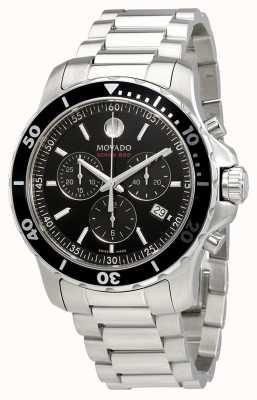 Movado Quadrante nero cronografo da uomo in acciaio 800 cronografo 2600142