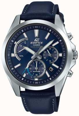 Casio Edifice zaffiro solare cronografo cinturino in pelle blu EFS-S530L-2AVUEF