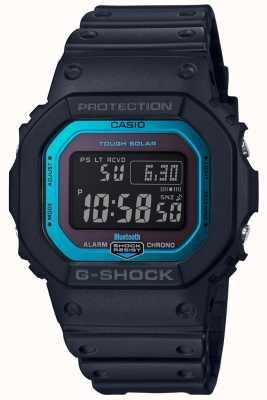 Casio Banda in resina radiocomandata bluetooth G-shock nera / blu GW-B5600-2ER