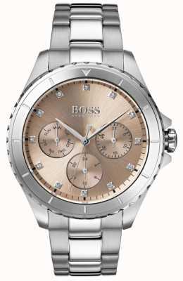 Hugo Boss Bracciale in acciaio inossidabile con quadrante in bronzo 1502444