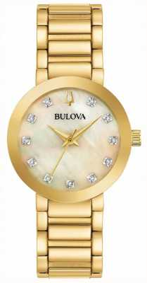 Bulova Orologio da donna in cristallo placcato oro pvd 97P133
