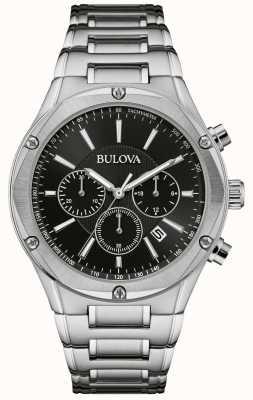 Bulova Orologio da uomo cronografo in acciaio inossidabile 96B247