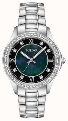 Bulova Orologio da donna in acciaio inossidabile con cristallo 96L266