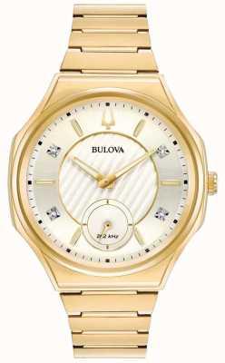 Bulova | curv | donne | braccialetto tono oro | 97P136