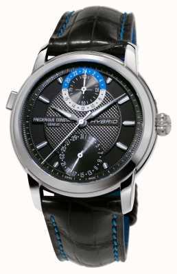 Frederique Constant Cinturino nero smartwatch automatico di fabbricazione ibrida 3.0 FC-750DG4H6