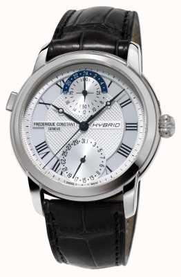 Frederique Constant Cinturino nero smartwatch automatico di fabbricazione ibrida 3.0 FC-750MC4H6