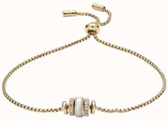 Fossil Bracciale da donna con cinturino a conchiglia color oro JF02956710