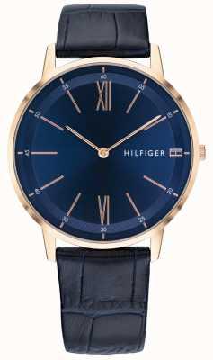 Tommy Hilfiger Cooper | cinturino in pelle blu | quadrante blu 1791515