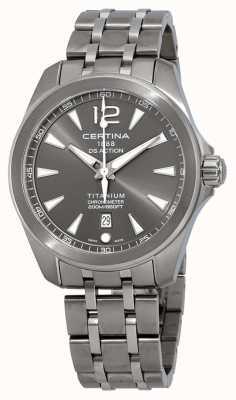 Certina Cinturino in titanio quadrante grigio con quadrante bianco C0328514408700