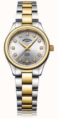 Rotary Orologio da donna a due diamanti con diamanti da donna LB05093/44/D