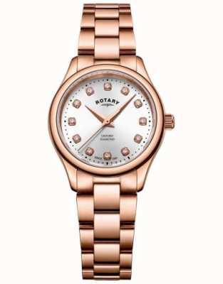Rotary | donne | oxford | set di diamanti | bracciale tono oro rosa | LB05096/02/D