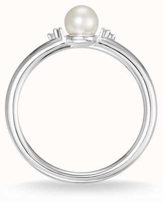 Thomas Sabo Anello in argento sterling con perla e diamanti bianchi taglia 54 D_TR0039-765-14-54