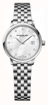Raymond Weil Womens freelance moher di pearl quadrante con diamanti 5626-ST-97081