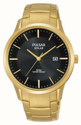Pulsar Data quadrante solare placcato in oro PX3162X1